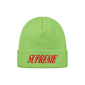 Supreme Crossover Beanie Lime
