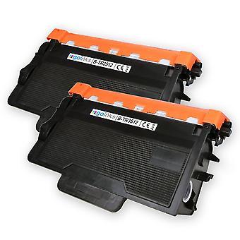 2 Go Inks XL svart laser tonerkassetter for å erstatte Brother TN3512 kompatibel / ikke-OEM for Brother DCP, MFC og HL skrivere