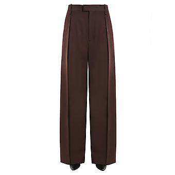 Bottega Veneta 599730vkkp02028 Women's Brown Wool Pants