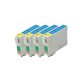استبدال 4 x روديتوس لابل أبسون حبر سماوي وحدة متوافقة مع القلم SX230، SX235W، SX420W، SX425W، SX430W، SX435W، SX438W، SX440W، SX445W، SX445WE، SX525WD، SX535WD، SX620FW، B42WD مكتب، عاشرا