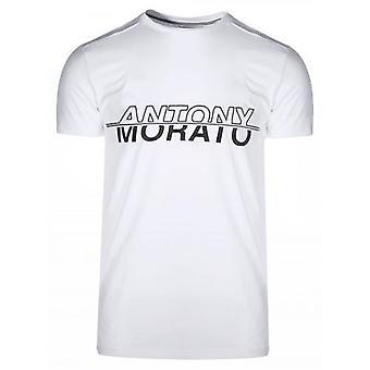 Antony Morato Sport branco & Black Print logo T-shirt
