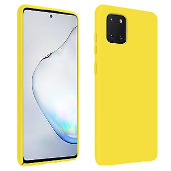 Back cover Samsung Galaxy Note 10 Lite Semi-Rigid Silicone Soft-Touch Yellow