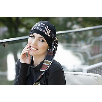 Bamboo hats for cancer patients - Yanna Black Blush Fiori