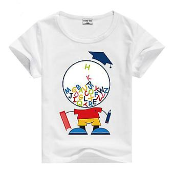 Summer Cotton Short Sleeve T-Shirt, Pupil