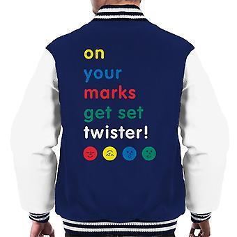 Twister On Your Marks Get Set Twister Men's Varsity Jacket