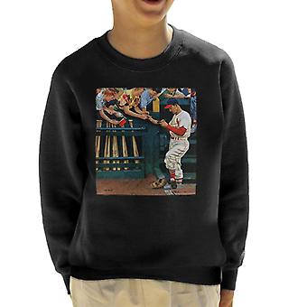 The Saturday Evening Post 1951 Baseball Cover Art Kid's Sweatshirt