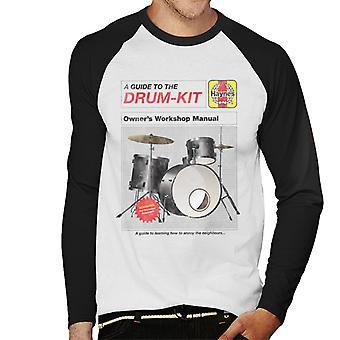 Haynes Drum Kit Owners Workshop Manual Men's Baseball Long Sleeved T-Shirt