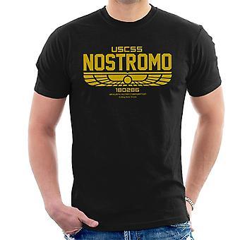 T-shirt Alien dos homens do logotipo de uscss Nostromo ' s