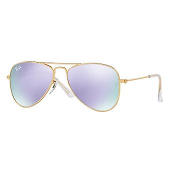 Ray-Ban Junior RJ9506S 249/4V Matte Gold/Purple Flash Mirror Sunglasses
