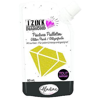Aladine Izink Diamond Glitter Paint 24 Carats Light Gold 80ml