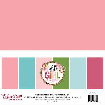 Echo Park Kaikki Tyttö 12x12 Tuuman Koordinoiva Kiinteä PaperiPakkaus