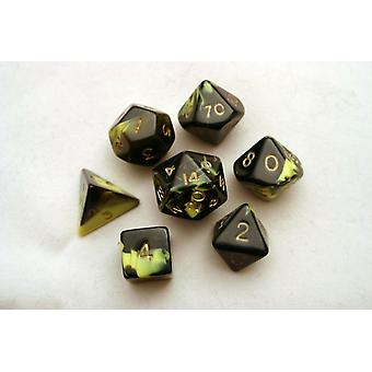 Oblivion Polydice Set - Yellow - 7 Standard Sized Dice for D&D and other RPGs