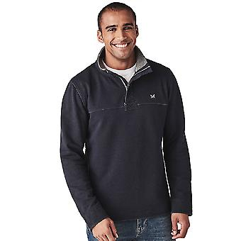 Crew Clothing Mens Padstow Pique Sweat Collared Sweatshirt