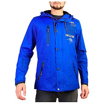 Geographical norway men's button zip jacket