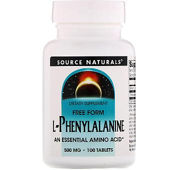 Source Naturals, L-Phenylalanine, 500 mg, 100 Tablets