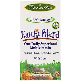 Paradise Herbs, ORAC-Energy, Earth's Blend, One Daily Superfood Multivitamin, Wi