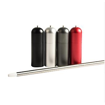 Portable collapsible reusable stainless steel straw