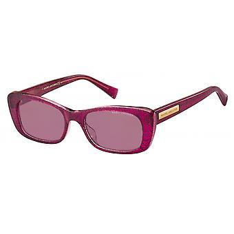 Sunglasses Women Rectangular Pink Glitter