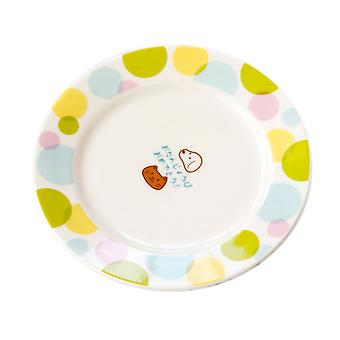 Cartoon Ceramic Round Plate Nordic Wind Tableware Spot Style