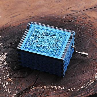 Harry Potter Theme Engraved Vintage Hand Crank Collectible Wooden Music Box