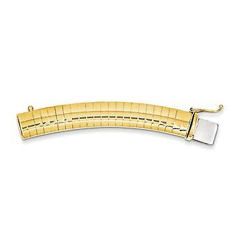14 k gule gull Solid hvelvet polert boksen fange nedleggelse 6mm Omega Extender for kjede - Omega låsen