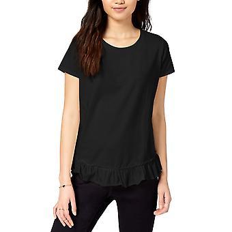 Maison Jules | Kortærmet pjusket-Hem T-shirt