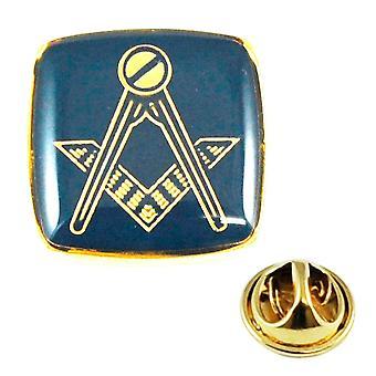 Ties Planeta Oro Chapado & Azul Masonic Lapel Pin Insignia