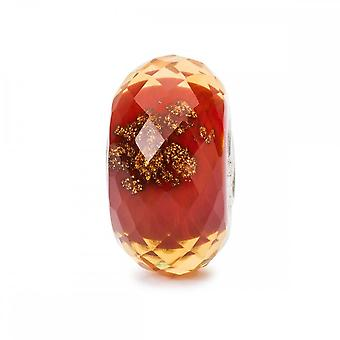 Trollbeads rød Twinkle Glasperle TGLBE-30037