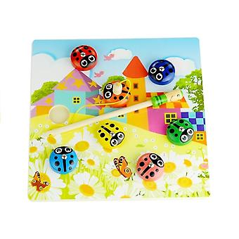 Children's toy magnetic rod game Ladybirds