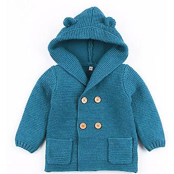 Baby Cardigan Autumn Winter Fur Collar Knitted Sweater Jacket