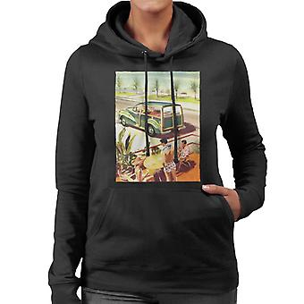 Morris Traveller Summer British Motor Heritage Women's Hooded Sweatshirt