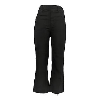 Spanx Femmes's Jeans Denim Cropped Flare W/Pockets Noir A368928