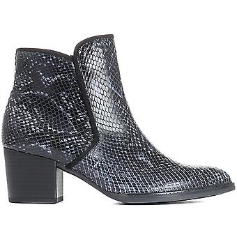 Gabor Womens Robina Snake Print Leather Ankle Boot