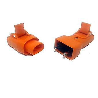 Inline Plug & Socket Conversion Adaptor for Lawnmowers Hedge Trimmers - 10A 250v