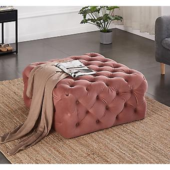 Emilia Square Lux Pouffe Pink