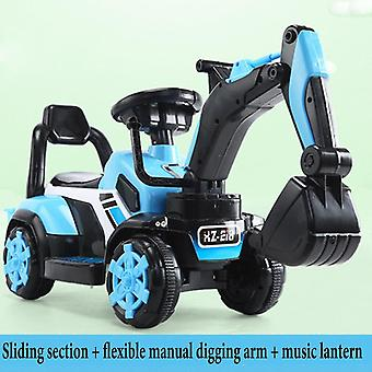 Children's Electric Car Toy, Engineering Old Battery Double Drive With Remote