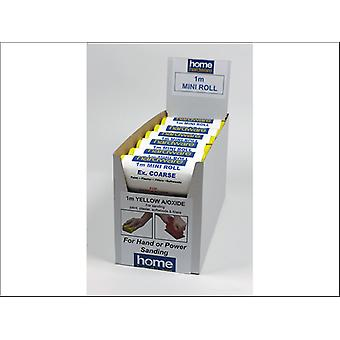 Home DIY (Paint Brushes) Aluminium Oxide Roll Yellow 1m x 115mm Coarse 005417