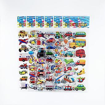 Engineering Vehicle Aircraft Style 3d Cartoon Stickers Toys For Scrapbook