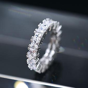 Handmade eternity rings Zircon 925 silver rings several model