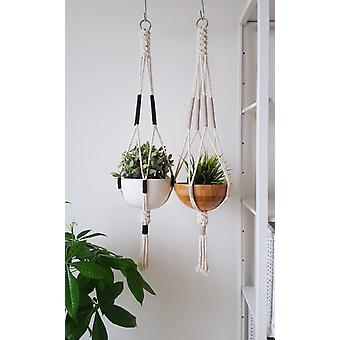 Bloque de color Macrame Plant Hanger Hanging Planter