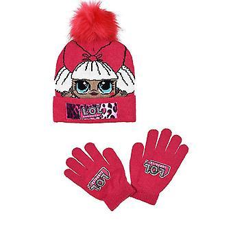 Dívky TH4121 LOL Překvapení Zimní klobouk a rukavice Set