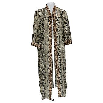 Lisa Rinna Collection Women's Sweater Printed Duster Brown A377528