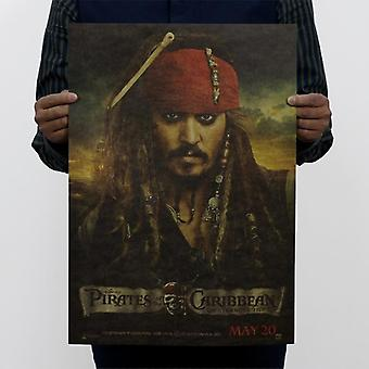 Pirates Of The Caribbean Vintage Kraft Paper Movie Poster Home Wall Decoration