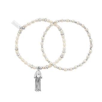 ChloBo SBRP337 Love And Protection Set Of 2 Bracelets