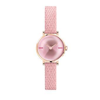 Furla Kvinder'S Pink Dial Kalveskind Læder Watch
