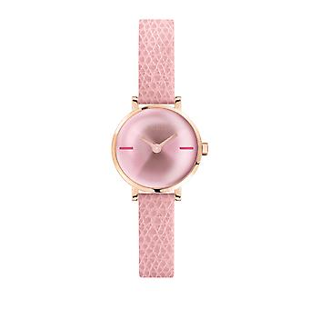 Furla Women'S Pink Dial Calfskin Leather Watch
