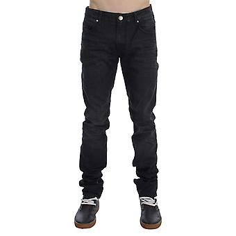 Acht Gray Cotton Skinny Slim Fit Dżinsy