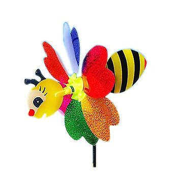 Six Leaf Pattern, Honey Bee Design Plastic Windmill -lawn Party Decor Toy
