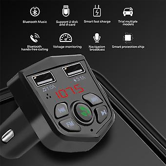 Bluetooth 5.0 Mp3 Freisprecheinrichtung Auto Kit / Fm / Tf Karte / U Disk Aux 3.1a Quick Dual