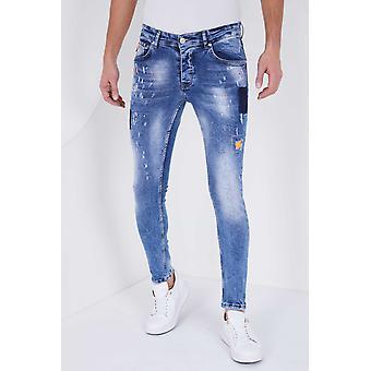 Paint Drops Jeans - Slim Fit - 5301A - Blue